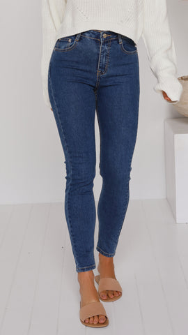 Carson Jeans - Dark Blue Denim