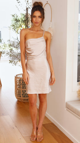 Karlee Dress - Silver/Champagne