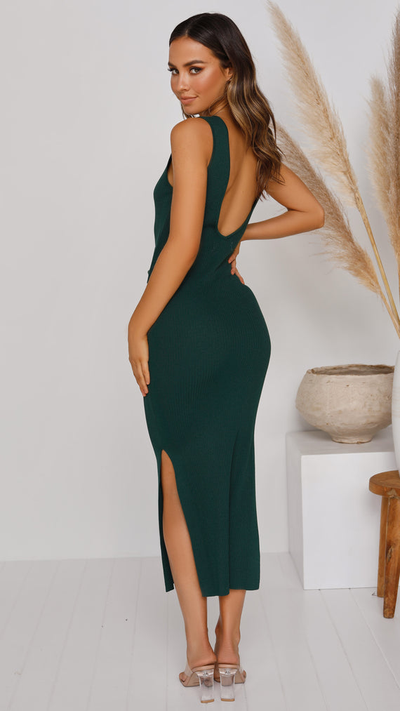 Germaine Midi Dress - Emerald