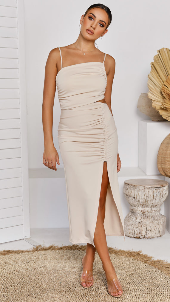 Zandra Dress - Beige