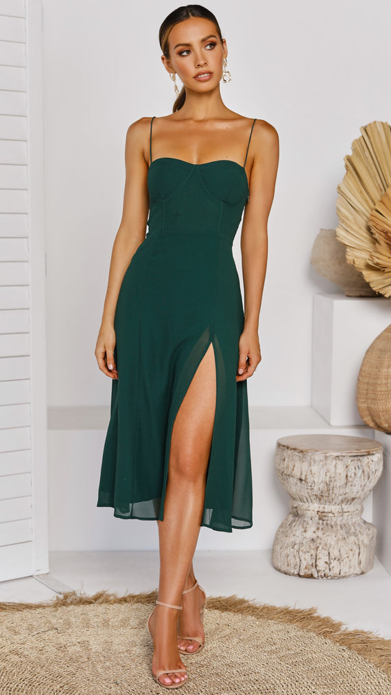 Averi Dress - Emerald