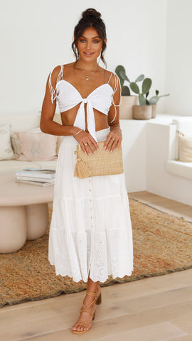 Destiny Maxi Skirt - White