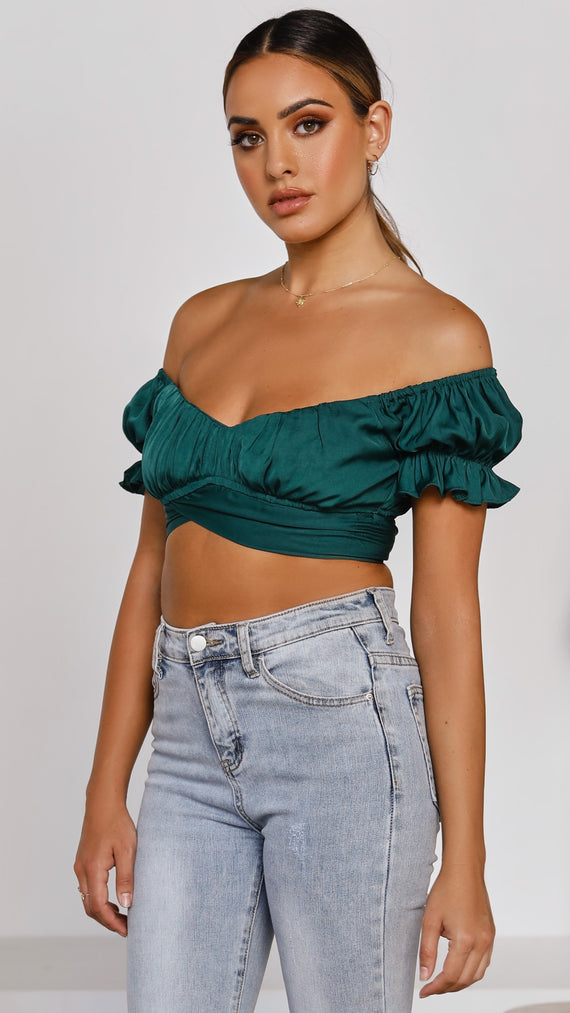 Mika Crop Top - Emerald