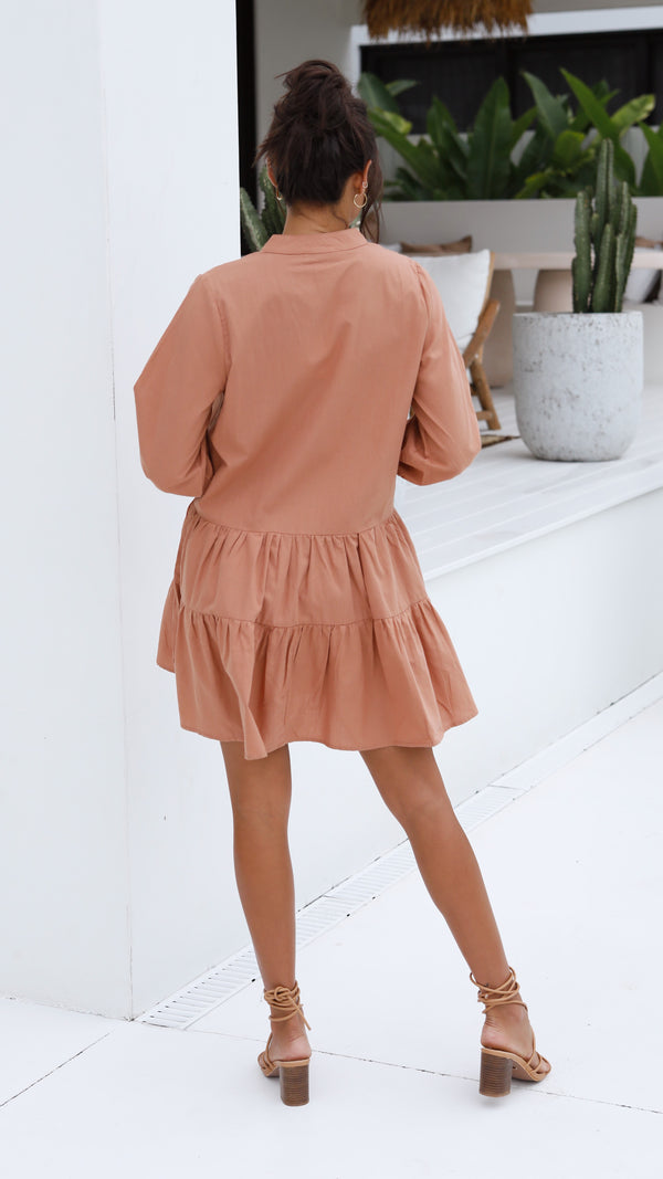 Jamila Dress - Rust