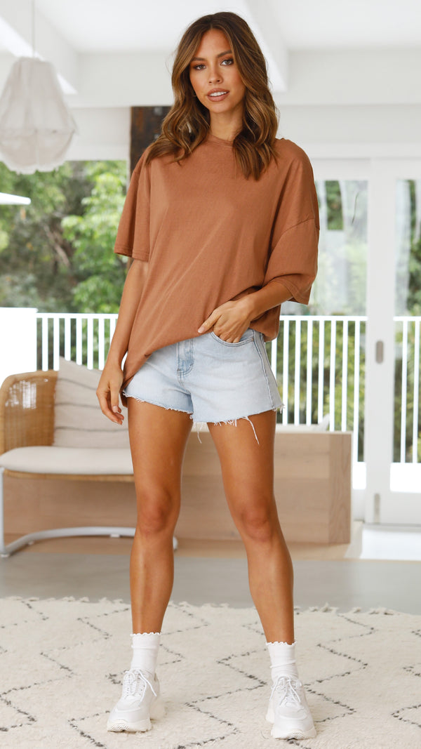 Leah Tee Dress - Terracotta