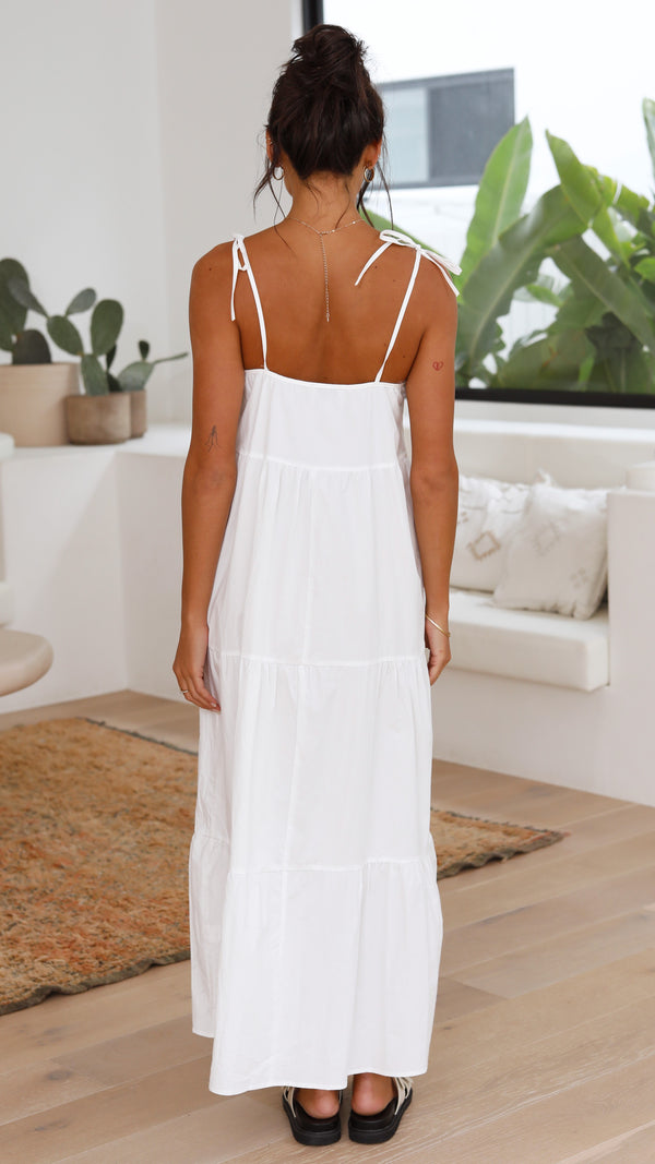 St Tropez Maxi Dress - White