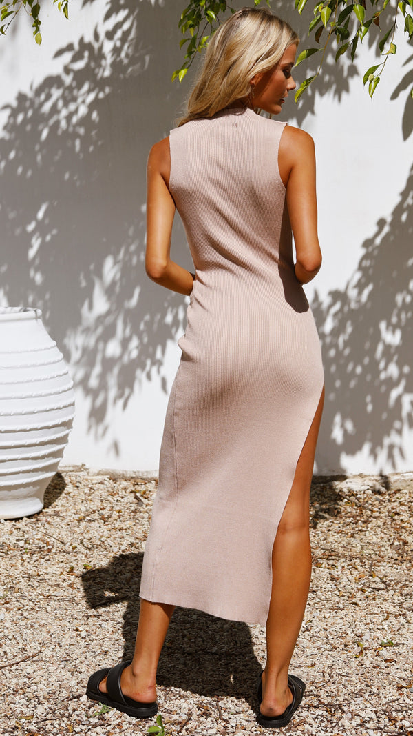 Angelica knitted Maxi Dress - Nude