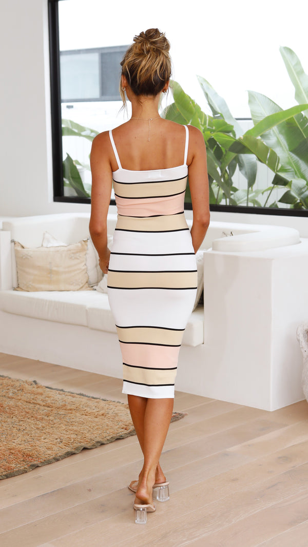 Florida Dress - Multi Stripe