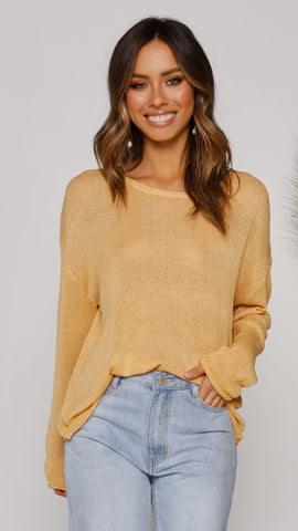 Buttercup Knit Top - Yellow