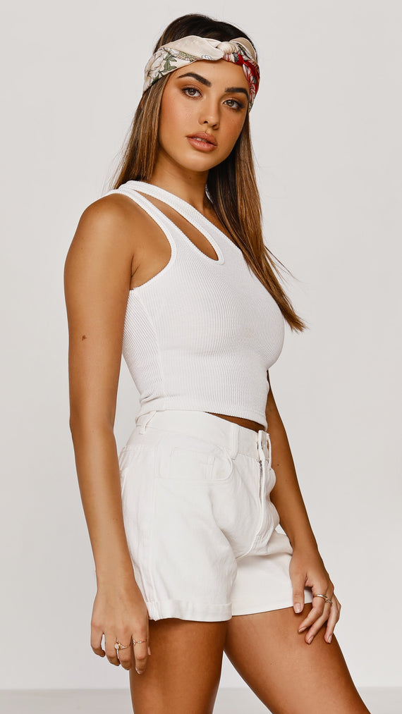 Kasey Crop Top - White