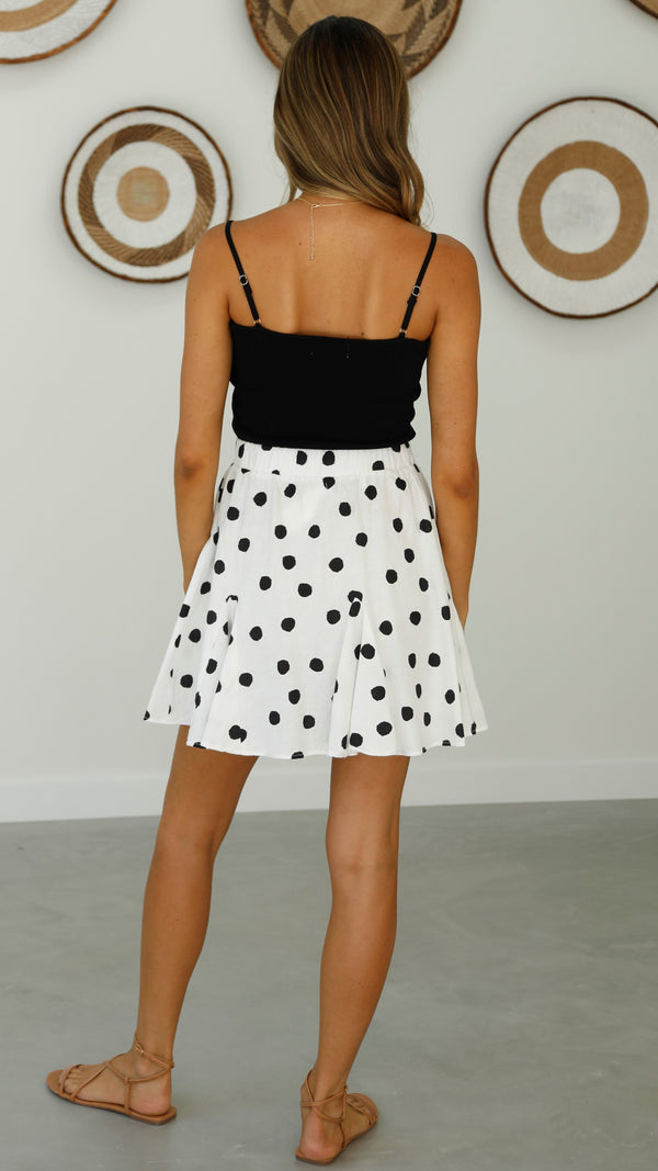 Arya skirt - White Polka