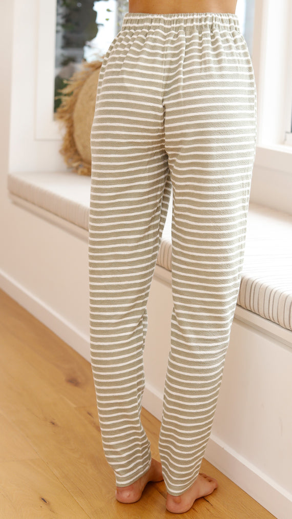 Tides Pants - Khaki/White Stripe