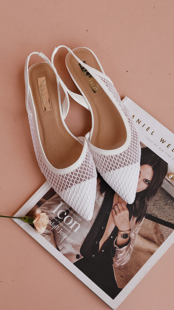 Cece Slides - White Mesh