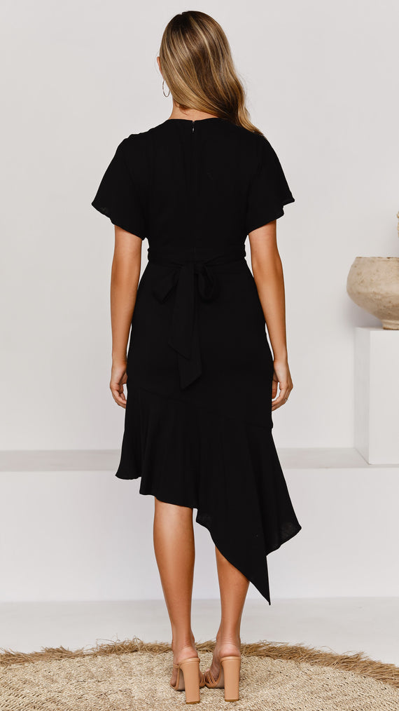 Sculpture Dress - Black