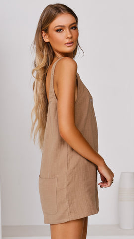 Brooke Playsuit - Tan