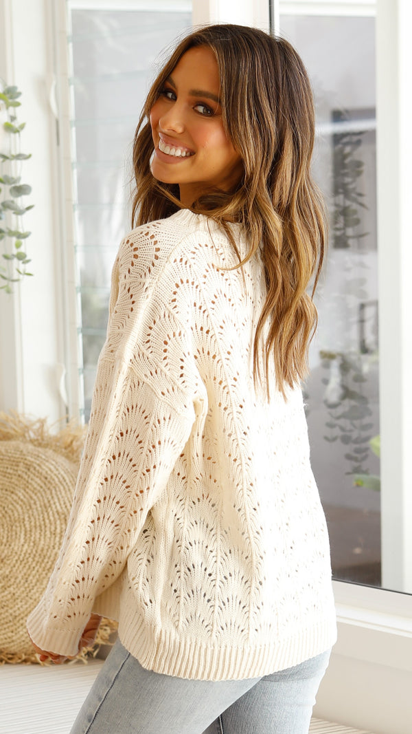 Sasha Knit - Cream