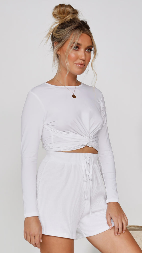 Adira Long Sleeve Top - White