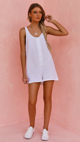Brooke Playsuit - White