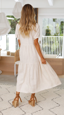 Willow Maxi Dress- Natural