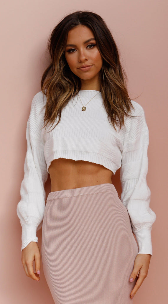 Harrow Cropped Knit - White