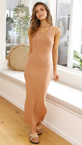 Estelle Midi Dress - Camel
