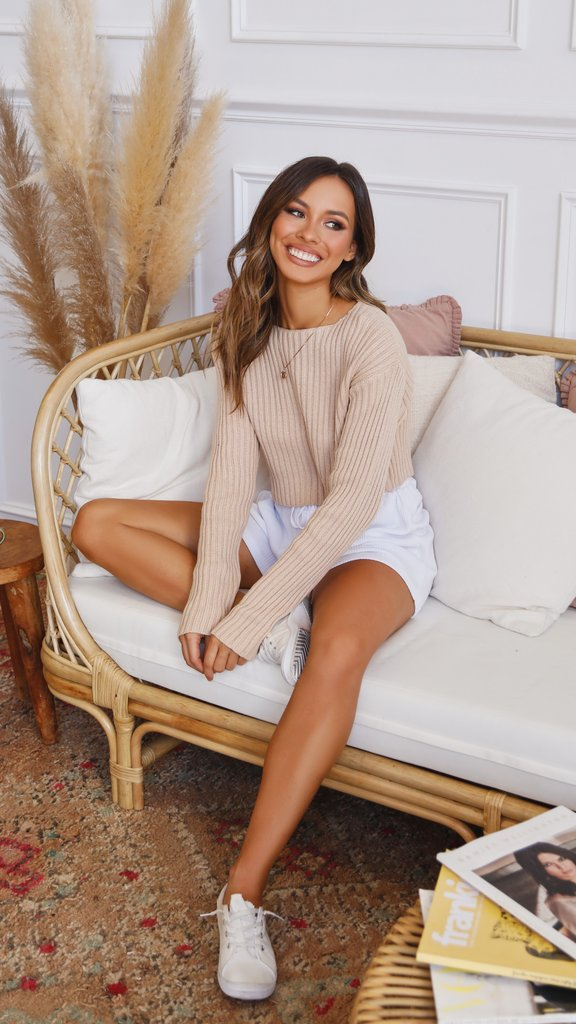 Layton Cropped Knit - Sand