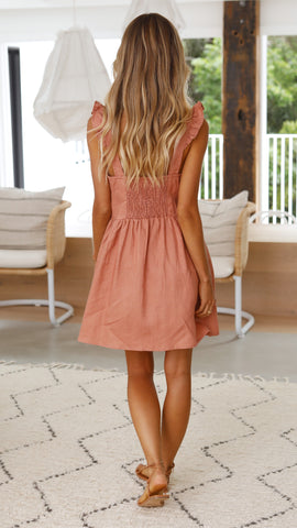 Gracelyn Dress - Terracotta