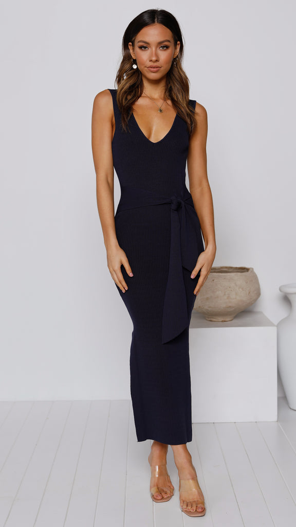 Germaine Midi Dress - Navy