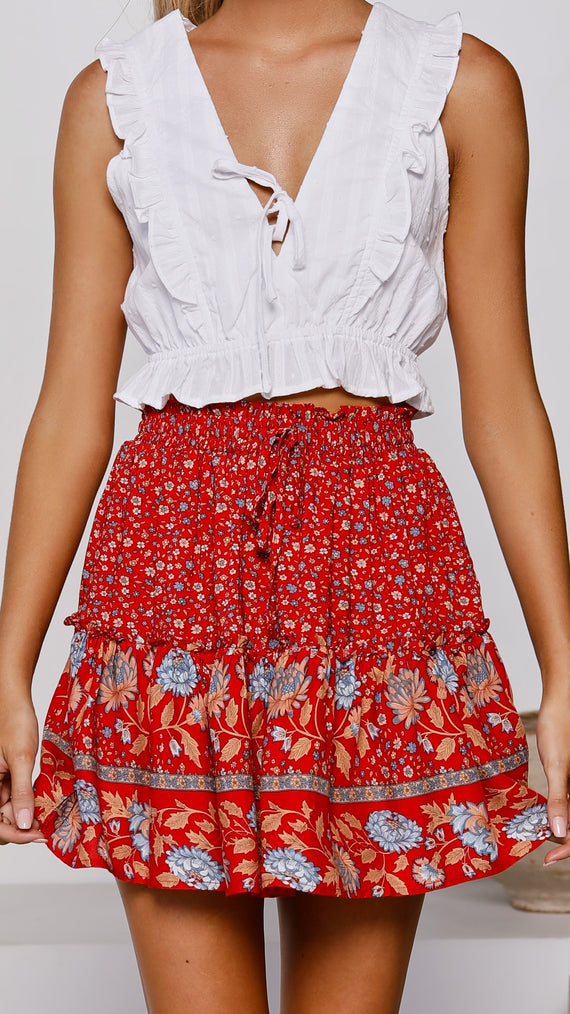 Adore Skirt - Ruby Floral