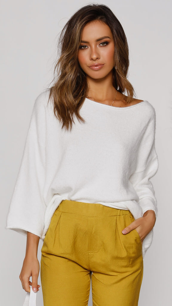 Lumos Knit Top - White