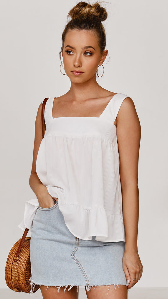 Jezebel Top - White