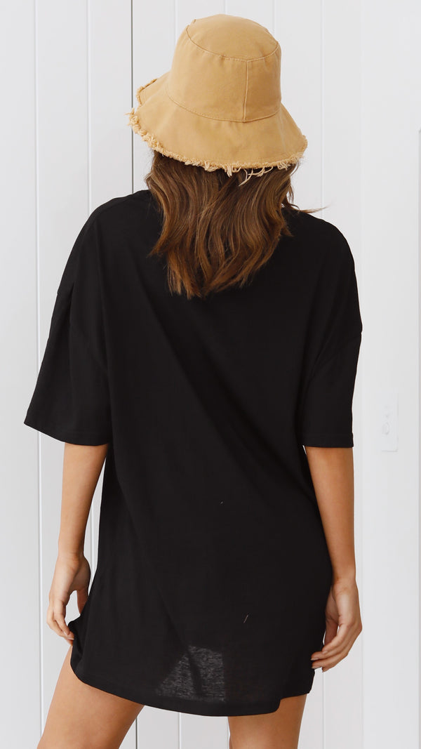 Leah Tee Dress - Black