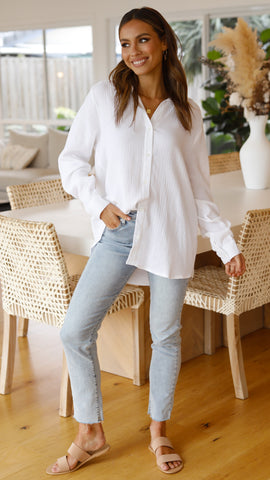 Sophie Button Up - White