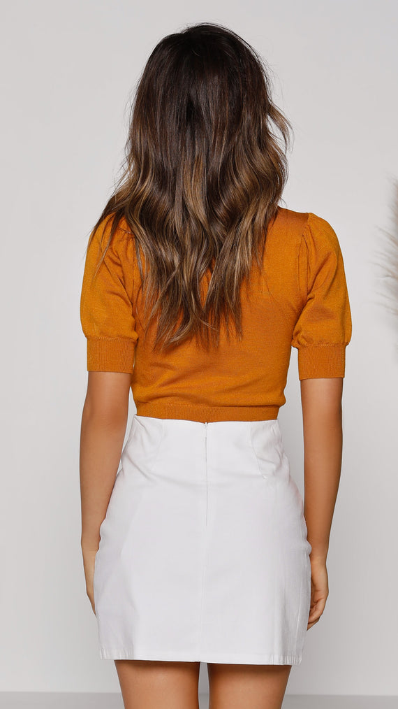 Nordic Knit Top - Pumpkin Spice
