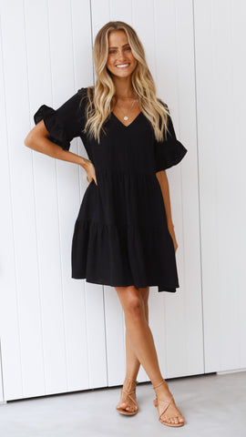 Mariah Mini Dress - Black