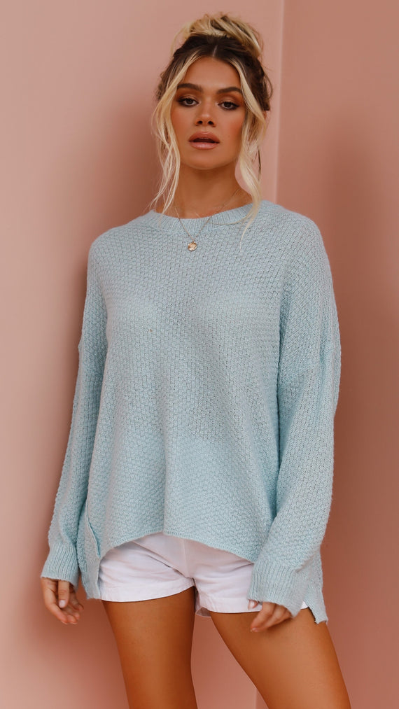 Goldie Knit Top - Blue