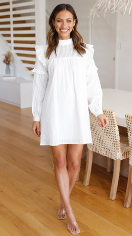Ainsley Dress - White