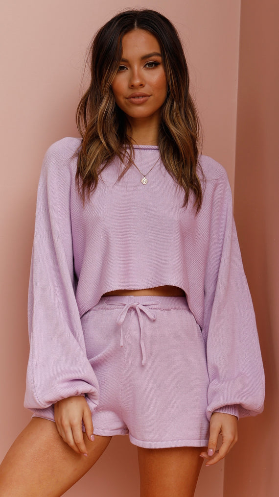 Azure Knit Top - Lilac