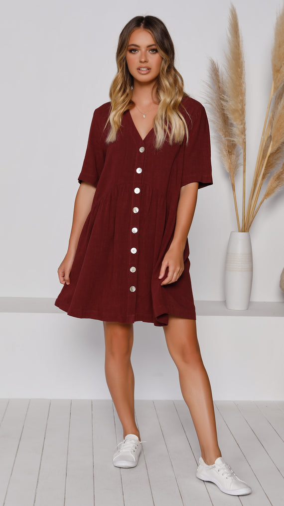 Bailey Dress - Wine