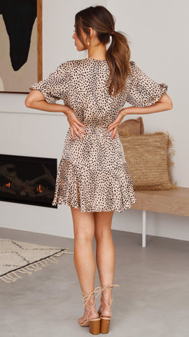Simone Dress - Leopard