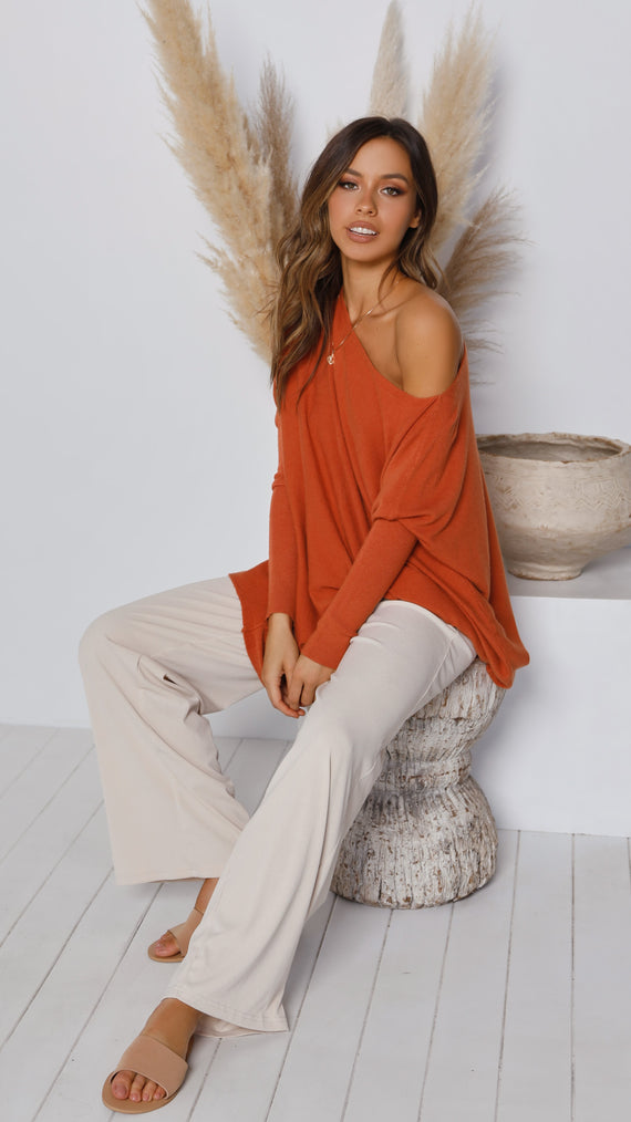 Warrior Knit Top - Rust