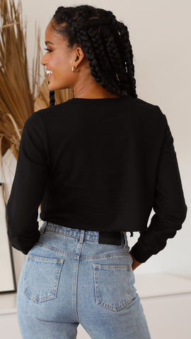 Rozalia Top - Black