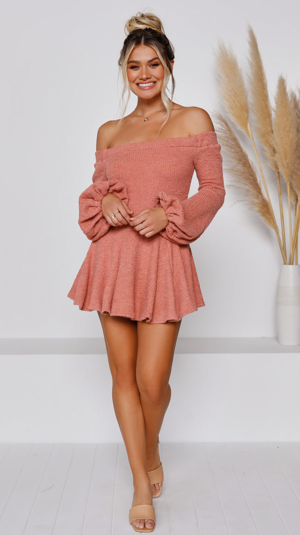 Abbey Knit Dress - Rose