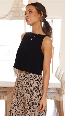 Persephone Crop Top - Black