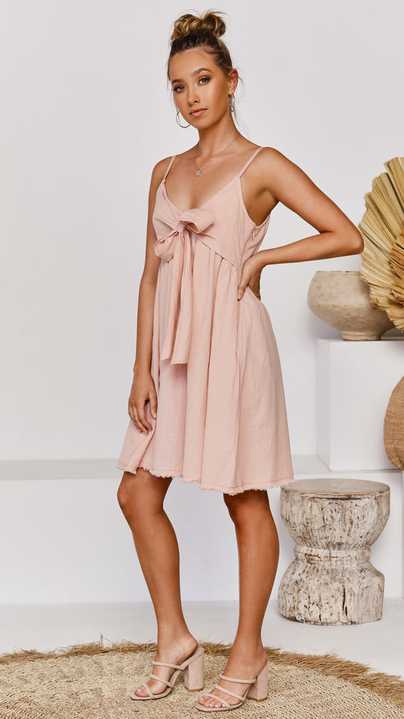Baja Singlet Dress - Rose