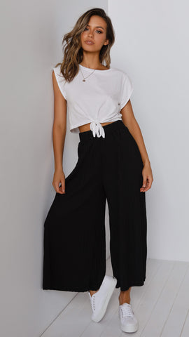 Loyal Heart Culottes - Black