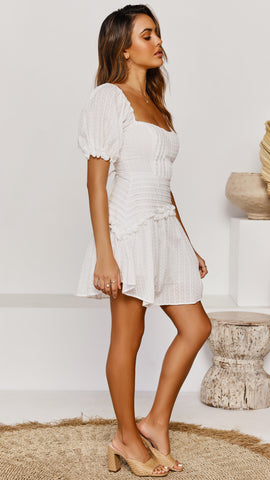 Turn The Paige dress - White