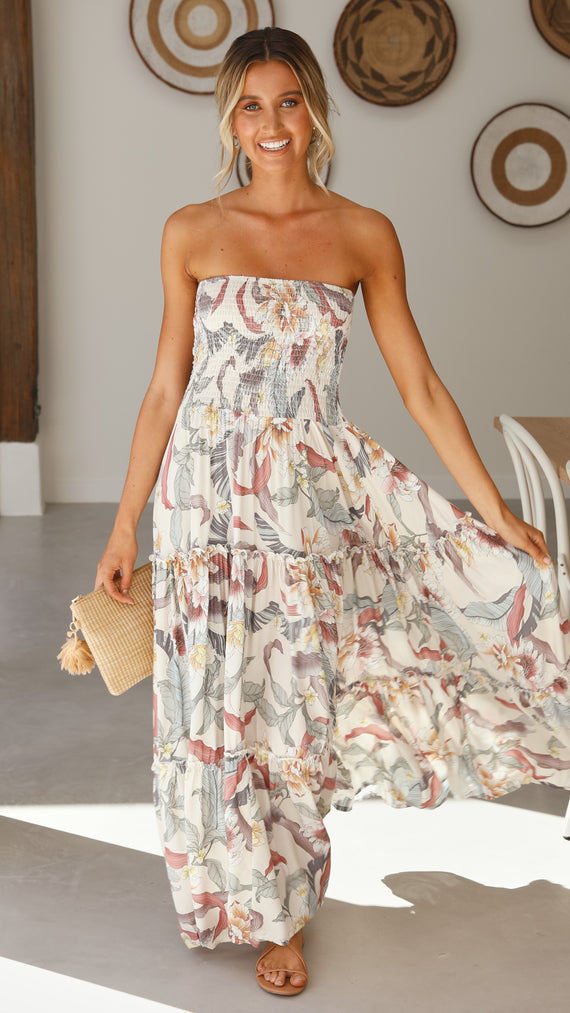 Moon Child Maxi Dress - Native Floral