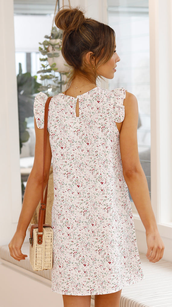 Josey Dress - White Floral