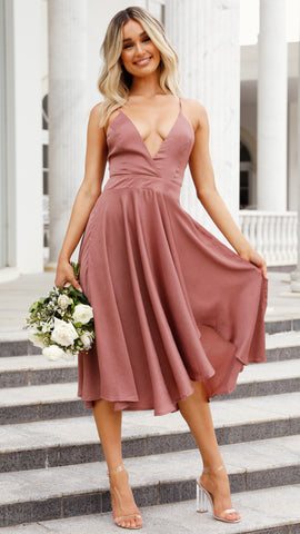 Annalisa Dress - Dusty Pink